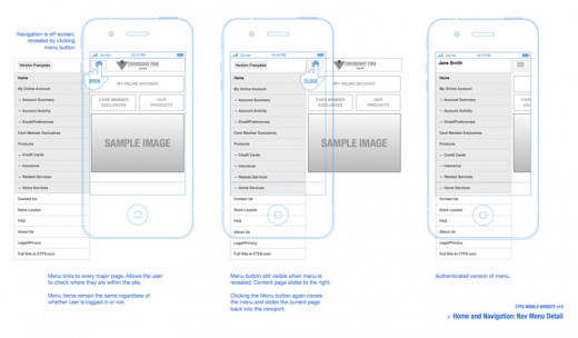 Credit Card Mobile Website example image 3