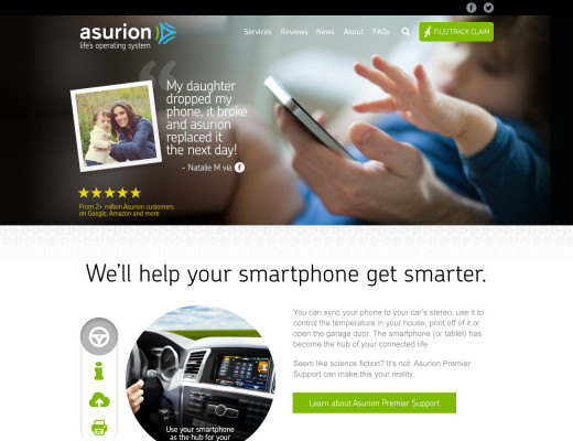 Asurion Service Widget Redesign example image 1