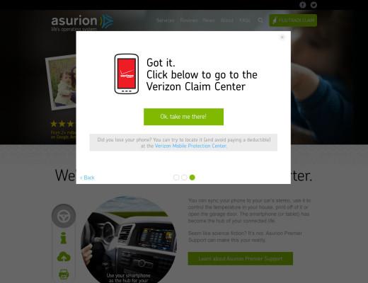 Asurion Service Widget Redesign example image 4